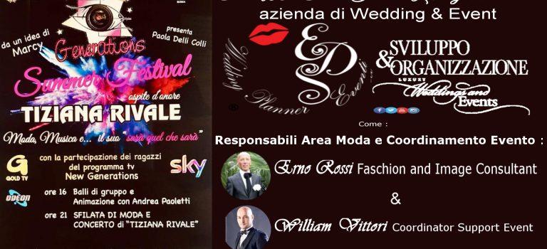 IL 13 E 14 AGOSTO A CIVITELLA ROVETO PER L'EVENTO ESTIVO PIÙ ATTESO by NEW GENERATIONS e la presenza della Azienda Wedding & Event Eds WP Eventi Italian Luxury Brand